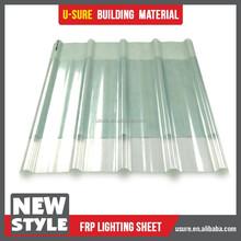 Frp en plastique transparent ondulé feuille de couverture transparente