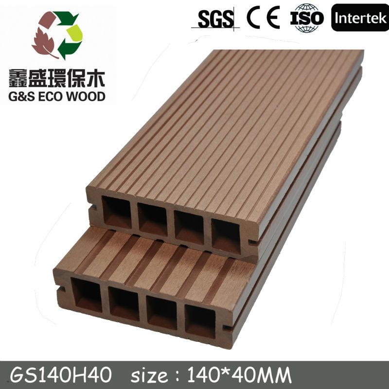 Outdoor engineered wood plastic composite flooring non for Non slip composite decking