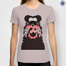 Cotton printed women's t shirt factory high quality custom t shirts
