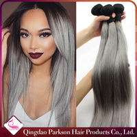 human hair grey color for straight hair unprocessed wholesale hair weft