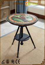 Living Room Antique Solid Wood Round Dining Table