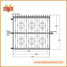 Gate part/spear top/ wrought iron for fence