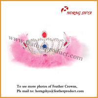 Feather Crown Princess Crown For Party