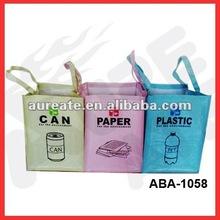 laminated pp woven eco garbage bag set-3bags/set