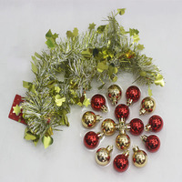 Hanging On Tree Glitter Plastic Decorative Sparkle Christmas Ball