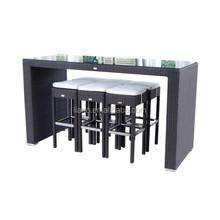 Aluminium PE rattan home bar furniture ikea
