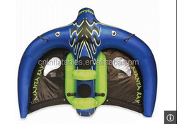 Water Inflatable Fly Fish Ski Tube Toy , Inflatable Flying Fish Tube Towable