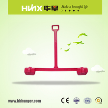HBK012 Custom Color Plastic Pants Display Hangers With Clips