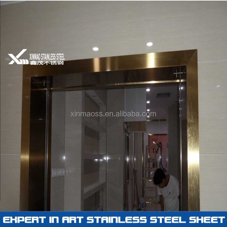 304 Pvd Rose Gold Price Of Stainless Steel Door Frame - Buy Steel ...