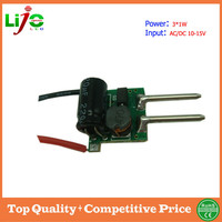 3W constant current MR16 driver for bulbs lights