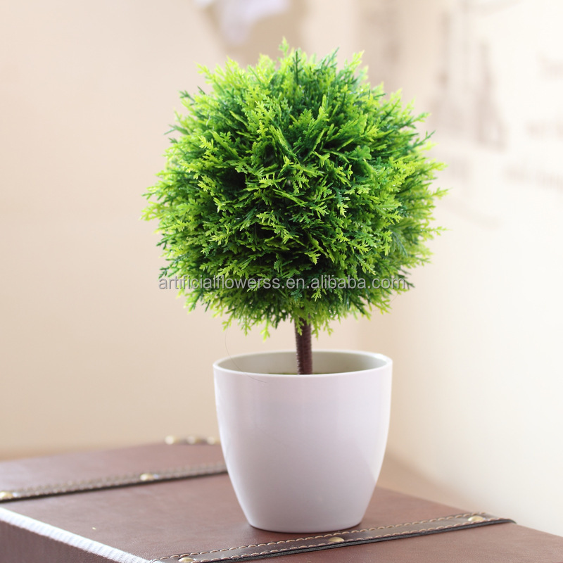 Charmant Lifelike Handmade Artificial Potted Plant Plastic Table Small Plant ...