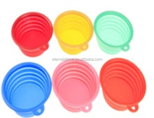 Silicone Pet Dog Cat Expandable Collapsible Travel Hiking Bowl