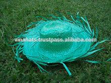 large bord de plage vert chapeau de paille naturelle