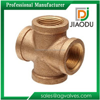 hot sale best quality casting npt lead free customized 1/2-4 inch brass cross pipe fittings and flange