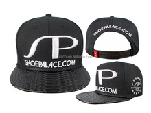 top quality 3d embroidery artificial snakeskin snapback hats