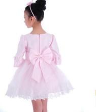 Children wedding dress skirt girl's long-sleeved tutu skirt flower girl dress