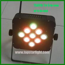 new invention led par/Flat 3 Watt TRI LED RGB Par Can Puck Style DMX Light,9*3W Flat PAR