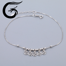 wholesale sterling silver findings white gold jewelry anklets jewellery