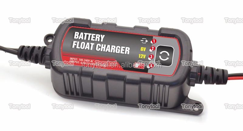 Hangzhou Tonytool À Prova D' Água 6/12 V 1.5A carregador de bateria de carro automático portátil mantenedor