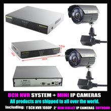 CCTV 8CH 1080P night vision video surveillance ip camera system 4ch NVR recorder kit