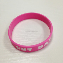 Silicone Rubber Wrist Band With Printing Logo