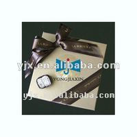 satin ribon bow used in gift box packaging