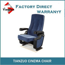 T-C38 Fixing on floor plastic indoor folding stadium chair with cup holders