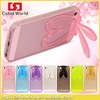 Cute Crystal Rabbit Soft Phones case TPU Cover for iPhone 5 5s Colorful TPU Cases For Apple iphone 5 5s 6 6 plus