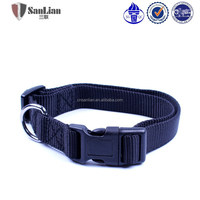 Dog collar with plastic buckle