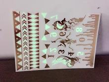 Halloween latest design flash tattoo of dongguan luminous tattoo sticker glow in the dark sticker