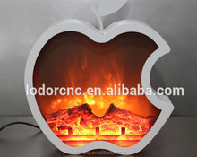 2015 new Apple shape beautiful decor flame inserts decorative electric Fireplace