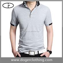 Wholesale retail promotion uniform short sleeve grey men polo new shirt