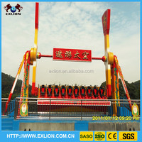 Amusement park thrilling top spin rides with music for sale