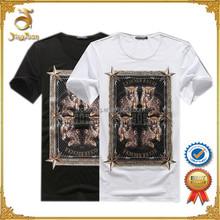 Discount fashion design custom man screen printing t shirt