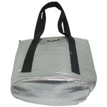 Supply silver tote bag cooler bag aluminium foil women shopping bag