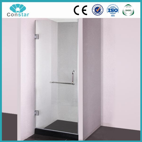 Trempé Verre unique personnalisé showe chambre unique personnalisé avec douche salle pleine courbe cabine de douche