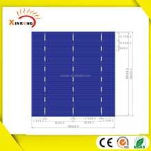A grade high efficiency 156x156mm cheap price of a solar cell