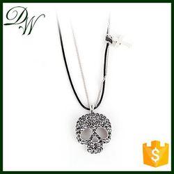 Lead & nickel free cheap pendant 24k white gold necklace, cheap bulk jewelry