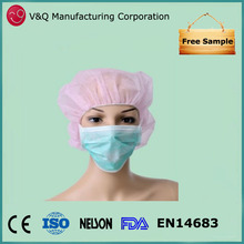 Hospital 3 ply PP non woven China manufacturer face mask with ties