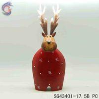 metal handcraft animal of Xmas elk for christmas adornment