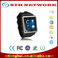Smart Android Bluetooth Watch S6 Wristwatch Cell Phone MTK6577 Dual Core 2MP 3G WCDMA GPS WIFI Single SIM Card