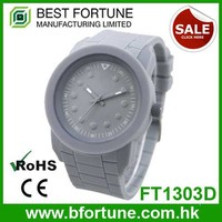 FT1303D_GY Guangdong stainless steel back water resist 30m quartz movement gray plastic watch
