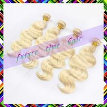 Best-selling lightest blonde color 16 /18/ 20 inch body wave 3pcs lot Wave virgin brazilian hair extensions