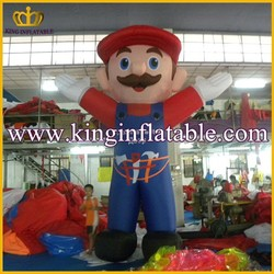Popular Super Mario Cartoon Character Inflatable, Giant Inflatable Man Figures For Sale