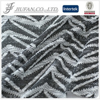 Jiufan Textile 150D DTY Soft Knitting Customized Jersey Stretch 100% Polyester Jacquard with Slub Hacci Fabric for Clothing