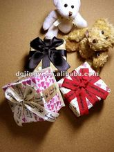 Different styles of paper gift box packaging for jewelry or birthday gift box made in China