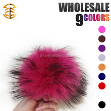 Hot New Year Products Fur Pom Poms Wholesale Home Decoration Genuine Raccoon Fur Ball Key Chain