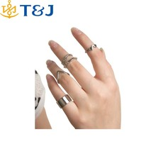 >>>Nwe Design Gold Sliver Plated Jewelry Anillos Anel Mix Index mid Finger Rings Aneis Female Fashion Trendy Knuckle Ring Sets/