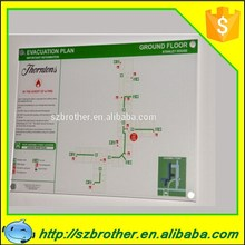 Wall Mounted 500x500mm Sign Board, Sign Brand, Acrylic Brightness Sign Board for Evacuation Plan