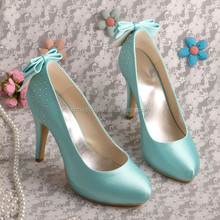 (16 Colors) Ladies Shoes High Heel Green Large Size